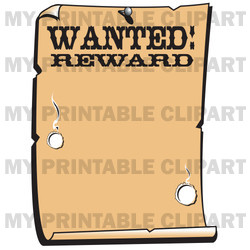 Western Wanted Reward Poster Border