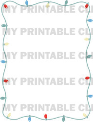 Retro Christmas Lights Border