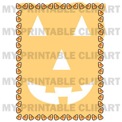 Halloween Pumpkin Candy Corn Border